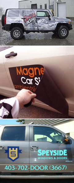Vehicle Wrap, Auto Decals and Auto Magnets, Windshield Stickers, Business adverstisement, etc.