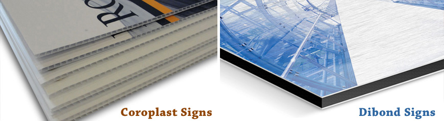 ALL TYPES OF DIGITALLY PRINTED SIGNS: COROPLAST, DIBOND, BANNER, VINYL, DECALS, CREZONE