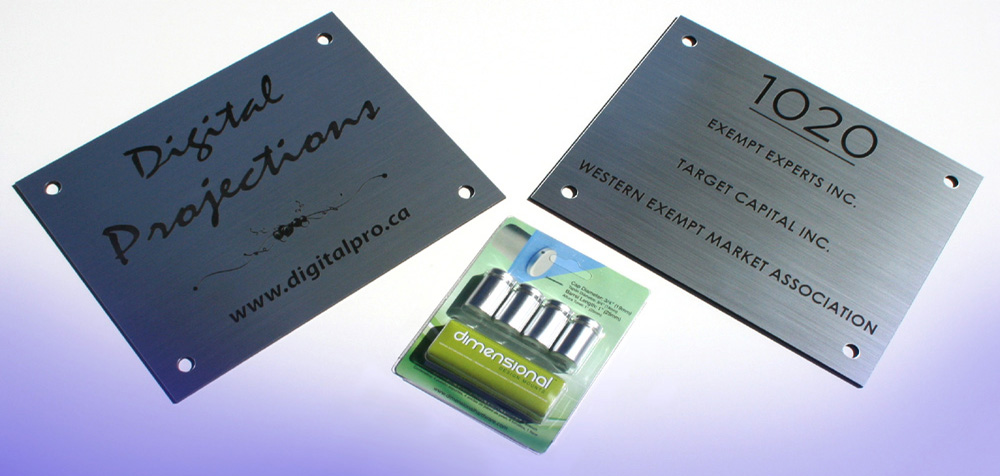 Engraved Plexi Plaques - Great for Indoor uses.  So use your imagination, and create the sign of your dreams.  Let us help!