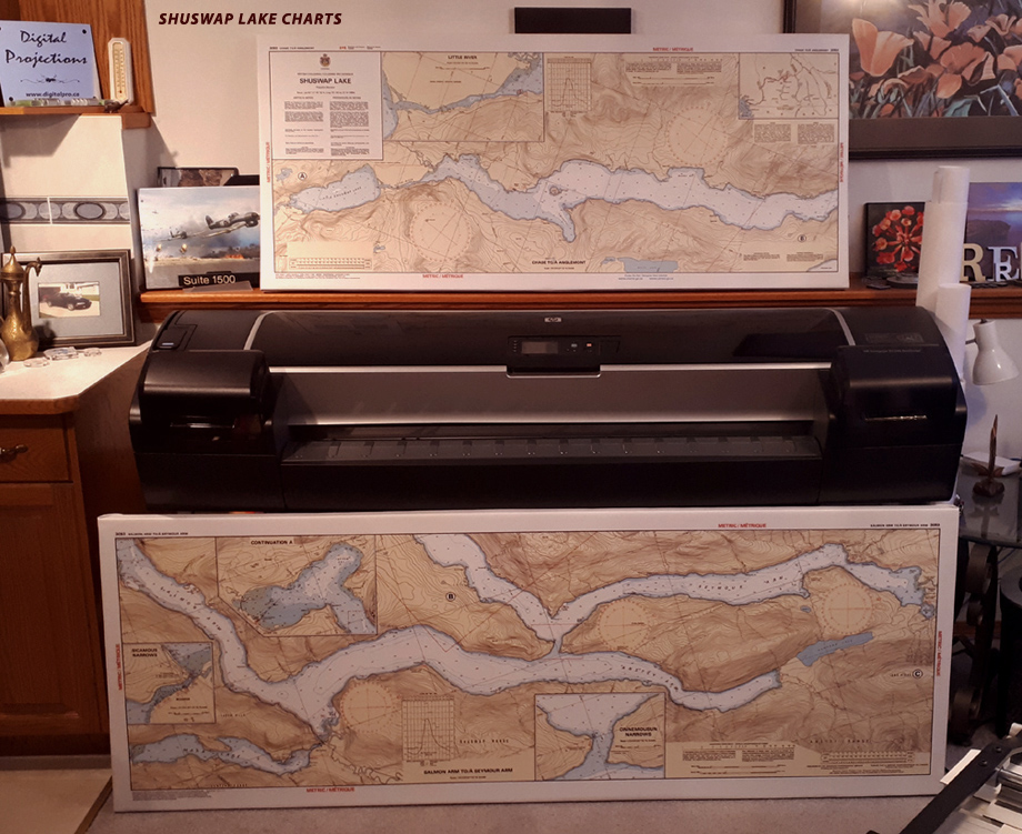 Custom Nautical Charts and Maps - Reproduced / With the Finishing of your Choice