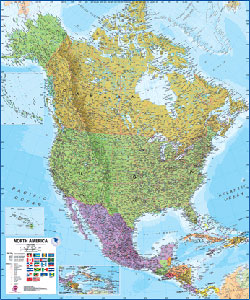 Craenen - North America Wall Map