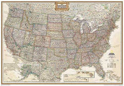 National Geographic - USA Wall Map Executive