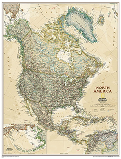 National Geographic - North America Wall Map