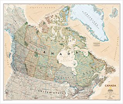 National Geographic - Canada Executive Wall Map