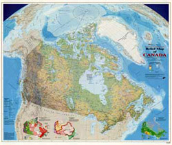 Gov. of Canada - Canada Relief Wall Map