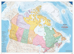 Canada Map Office - Canada Political Wall Map